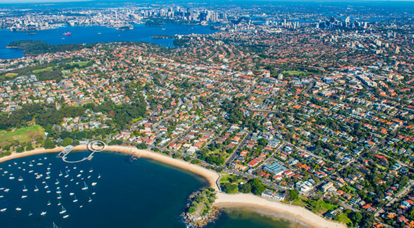 aerial photo of Balmoral Sydney CBD Middle Harbour Aerial Photography