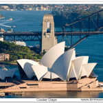 aerial photography Sydney Opera House Harbour Bridge