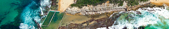 Aerial Photo of North Narrabeen Rock Baths