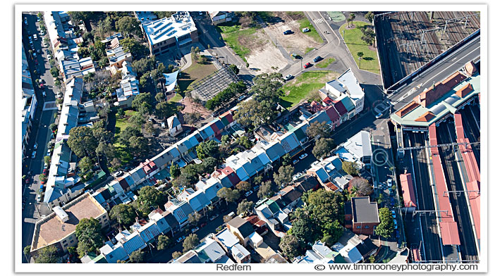 Aerial Photo of Redfern including The Old Block