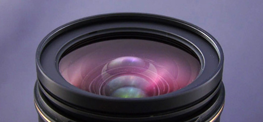 Camera lens in pristine clean condition. Best equipment for aerial photography Sydney