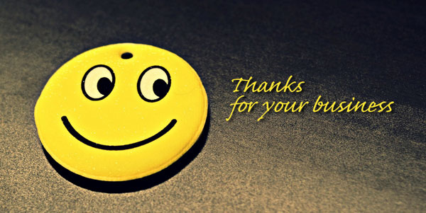 Thank you for your customer feedback and testimonials smiley face