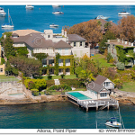 Aerial photograph of 'Altona' Point Piper Sydney NSW Australia