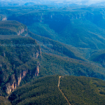Aerial photo of Medlow Bath at Katoomba Blue Mountains