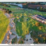 Sunrise photo aerial over The Lakes Golf Club,Sydney